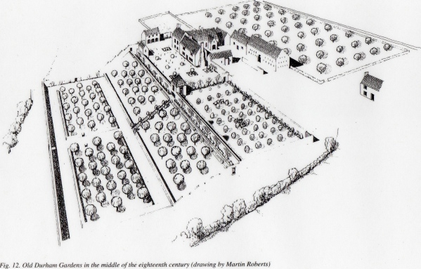 How the gardens may have looked in the 18th century